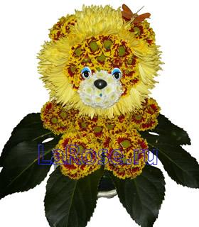 Львенок с цветами картинки